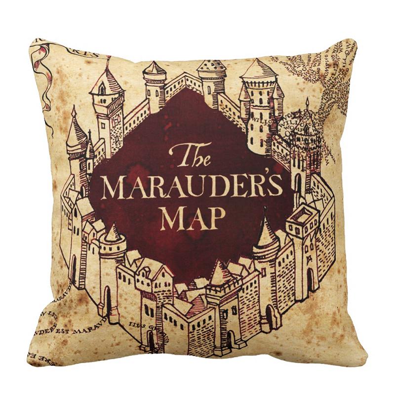 cojin harry potter mapa merodeador