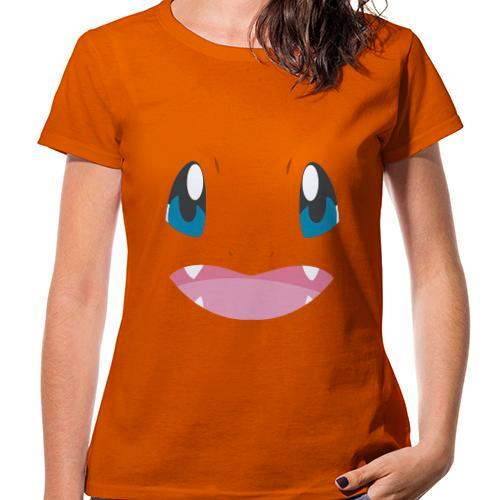 Regalos Charmander Chica Face Friki Frikis Pokemon Camiseta Mujer aqnSYHtR